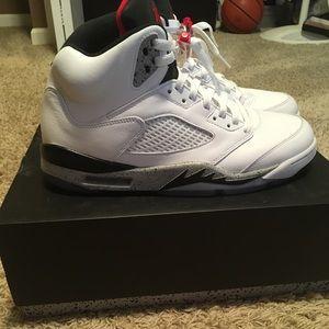 Jordan 5 White Cement